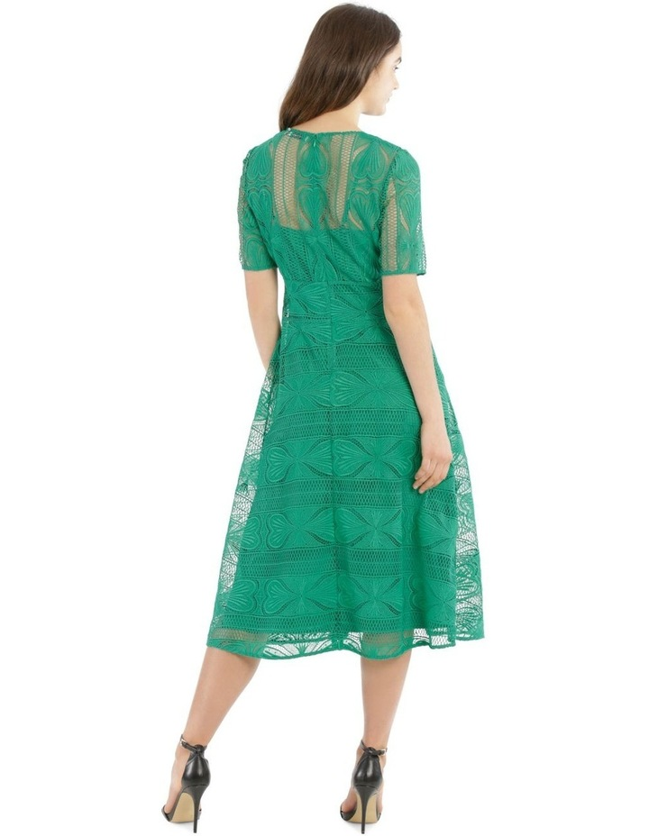 Embroidered Lace Contrast Midi Dress image 3