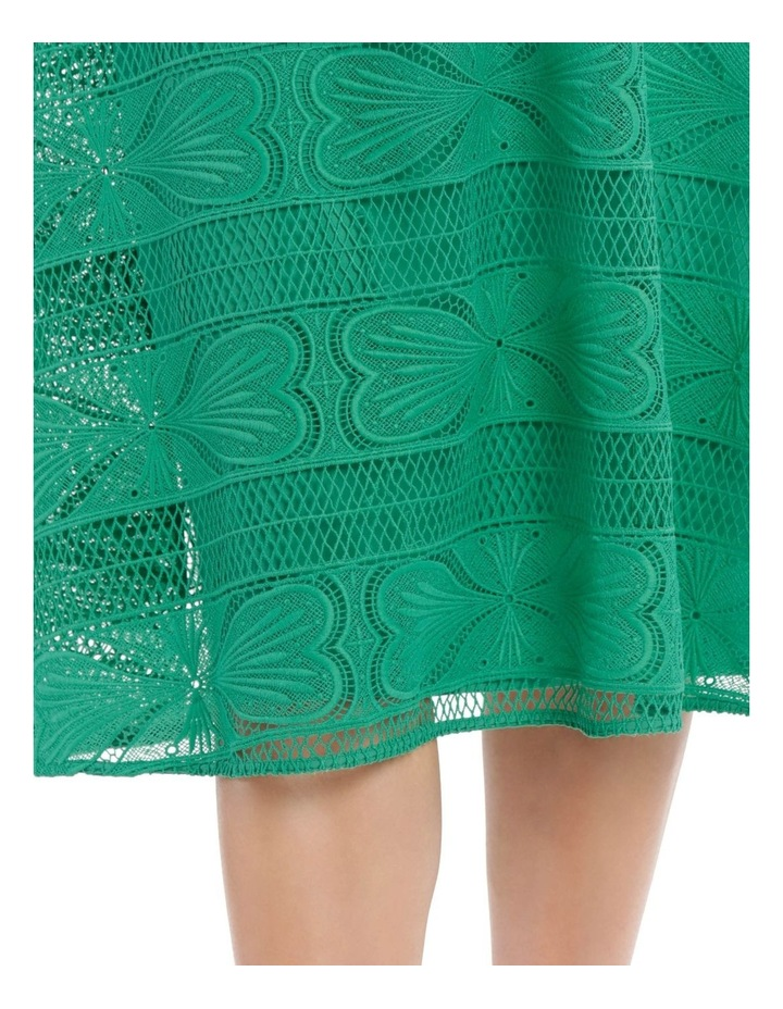 Embroidered Lace Contrast Midi Dress image 4