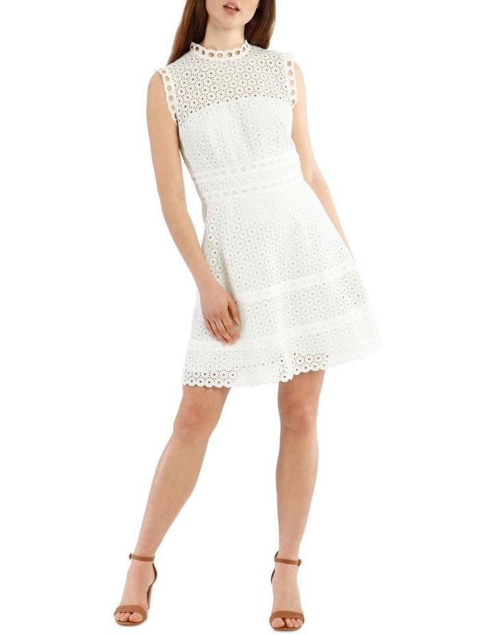 Contrast Lace Combo Dress image 1