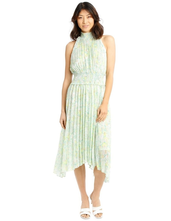 Halter Neck Dress with Pleating image 1