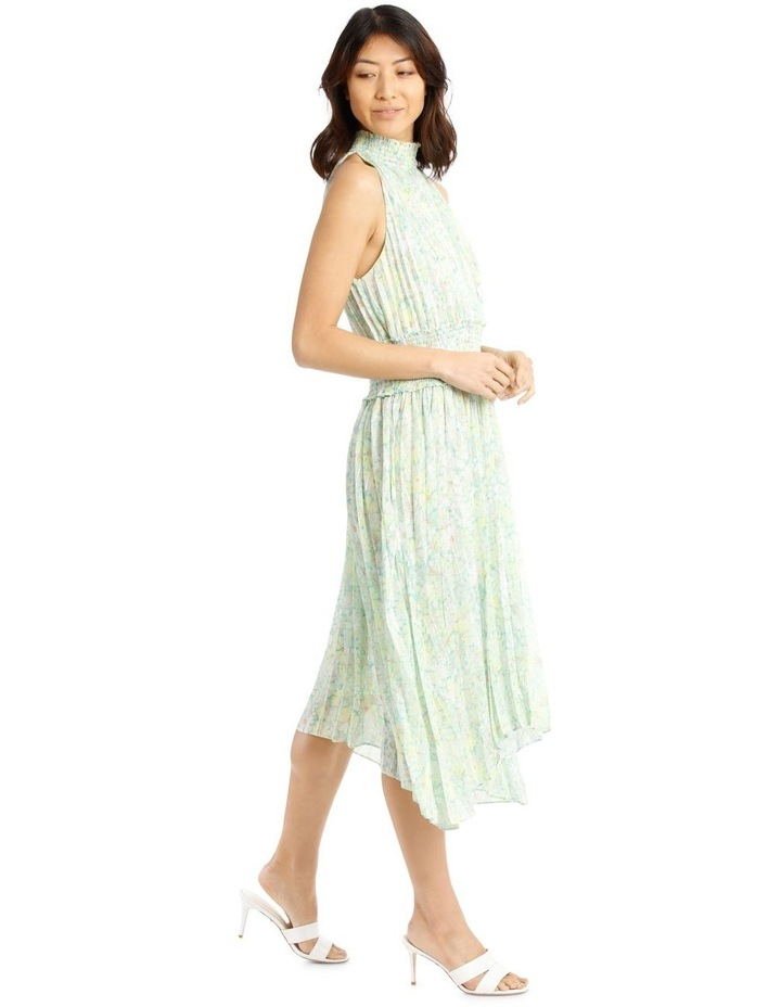 Halter Neck Dress with Pleating image 2