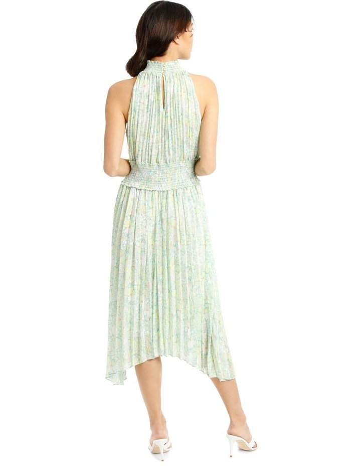 Halter Neck Dress with Pleating image 3