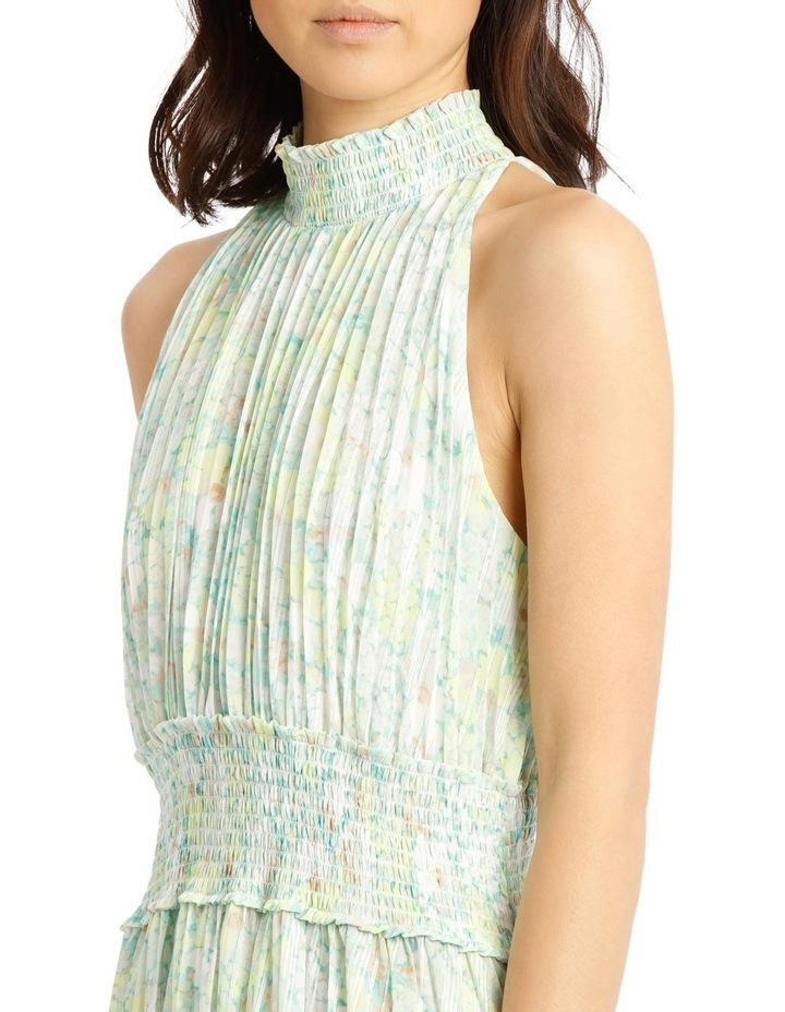 Halter Neck Dress with Pleating image 4