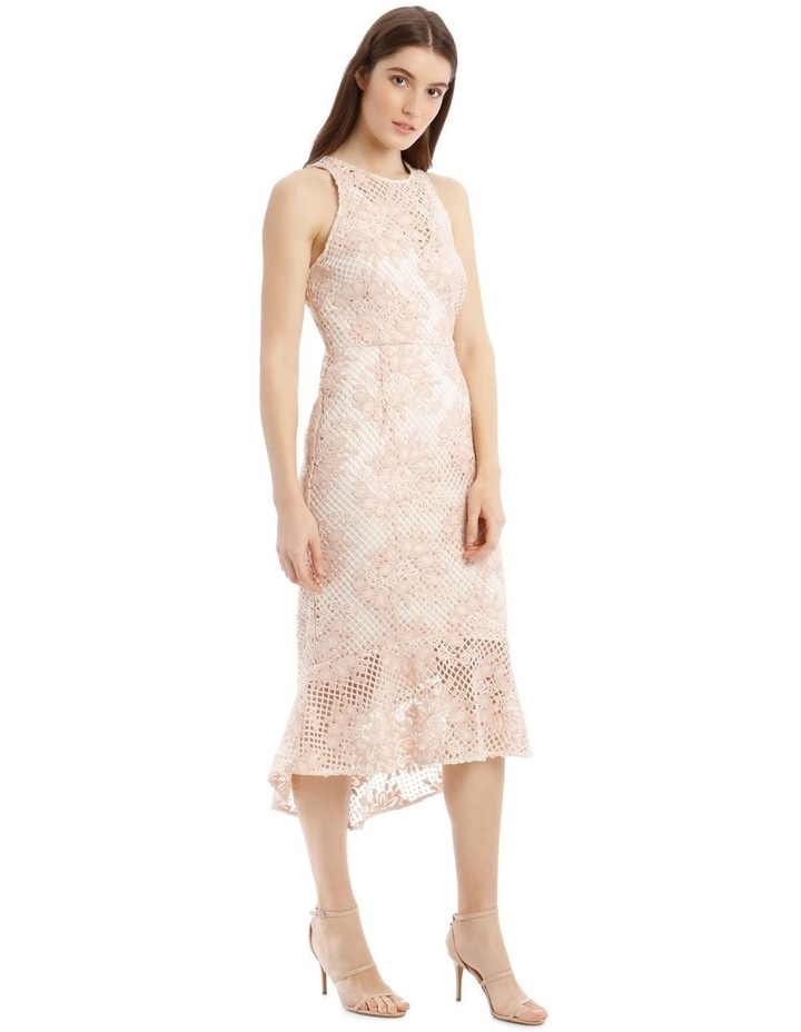 High Low Contrast Dress with Ruffle image 2