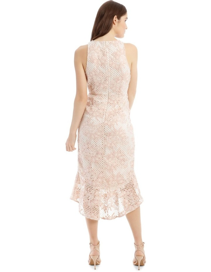 High Low Contrast Dress with Ruffle image 3