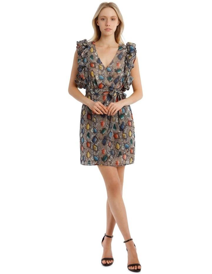 Multi Ruffles Printed Dress image 1