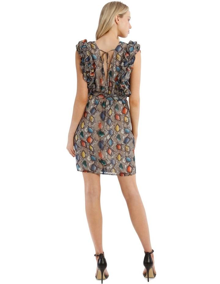 Multi Ruffles Printed Dress image 3