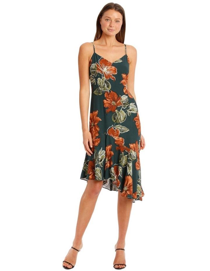 Asymmetrical DressWith Ruffle Print image 1