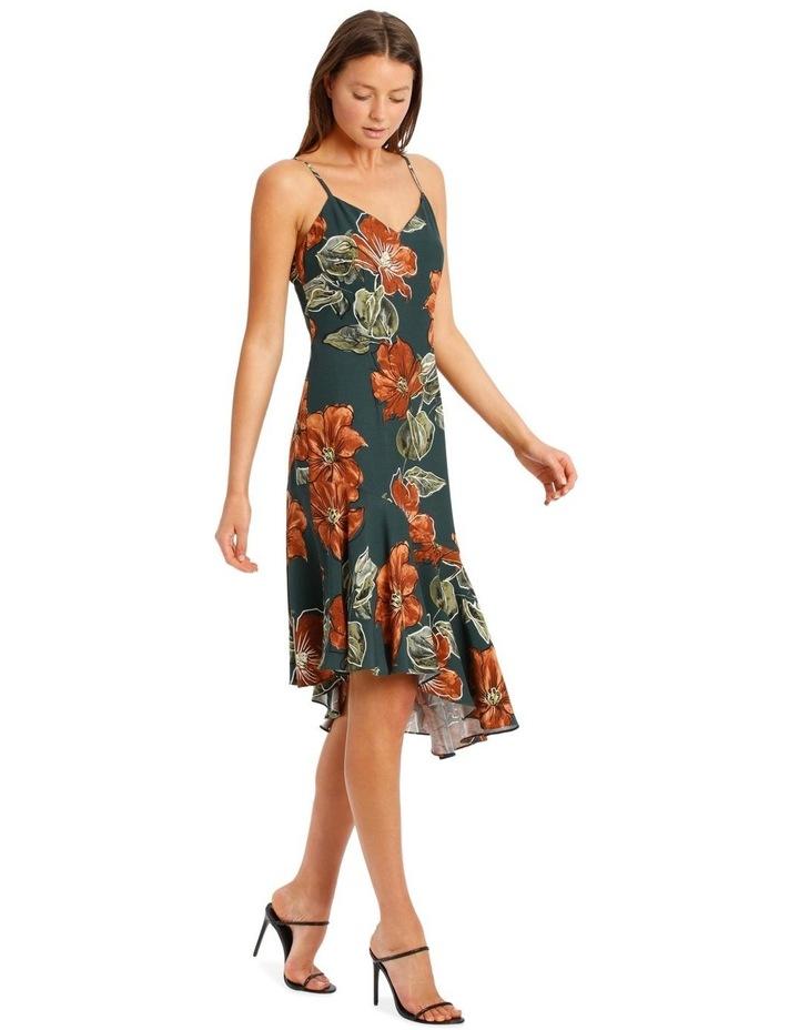 Asymmetrical DressWith Ruffle Print image 2