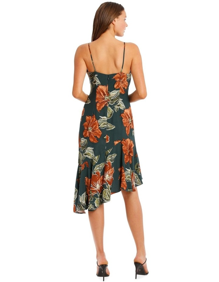 Asymmetrical DressWith Ruffle Print image 3