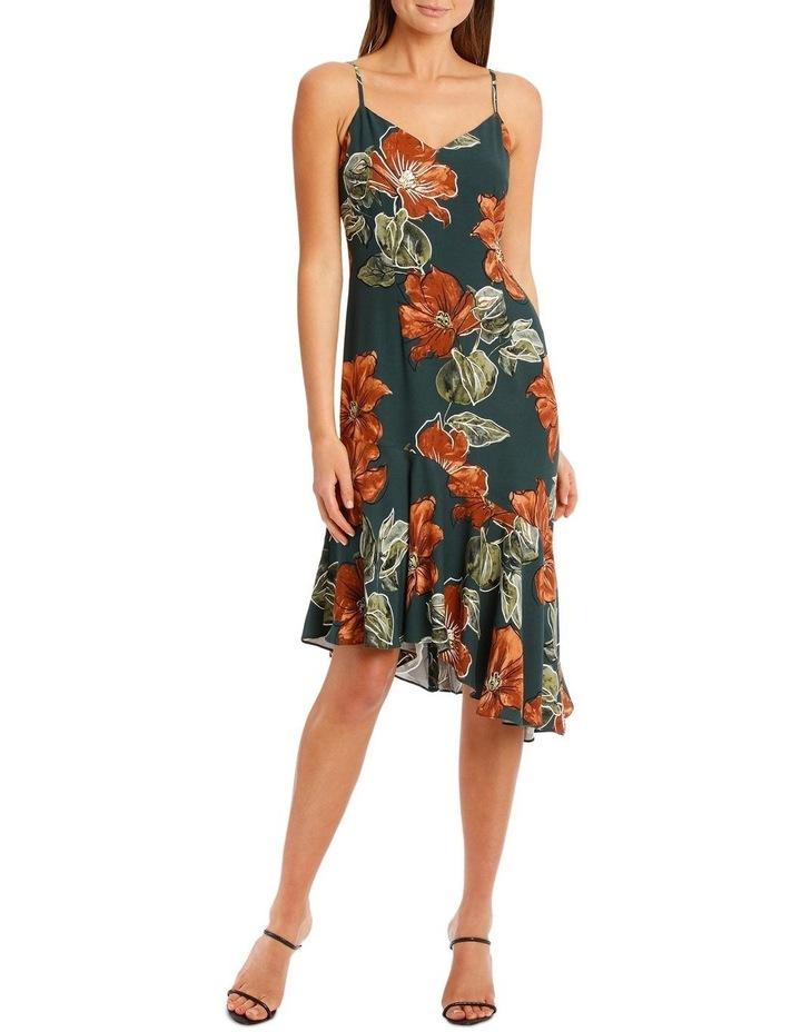 Asymmetrical DressWith Ruffle Print image 5