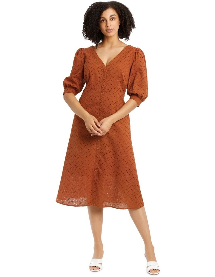 Multi Button Broderie Dress image 1