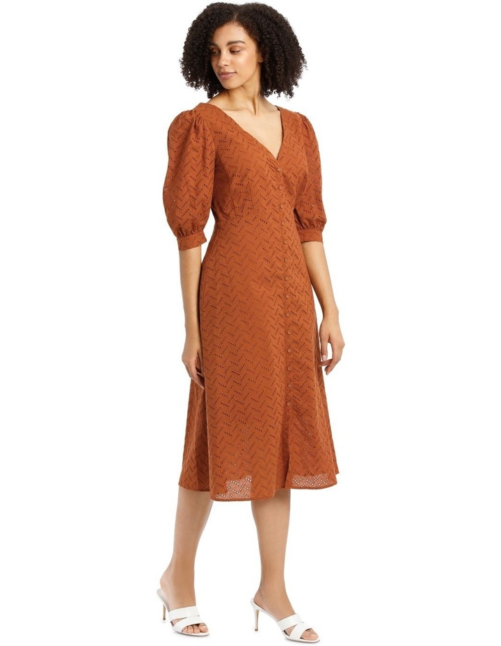 Multi Button Broderie Dress image 2