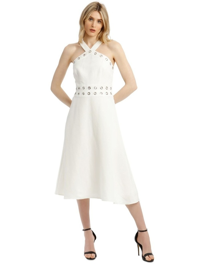 Linen Dress With Eyelets image 1