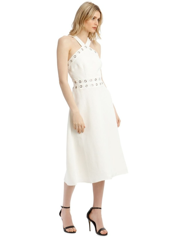 Linen Dress With Eyelets image 2