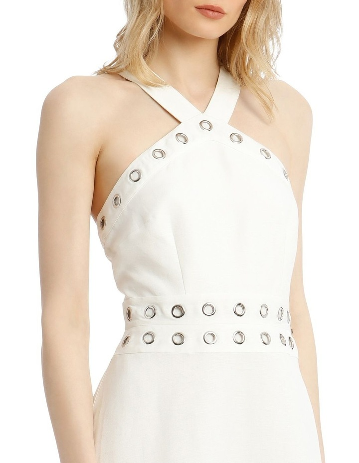 Linen Dress With Eyelets image 4
