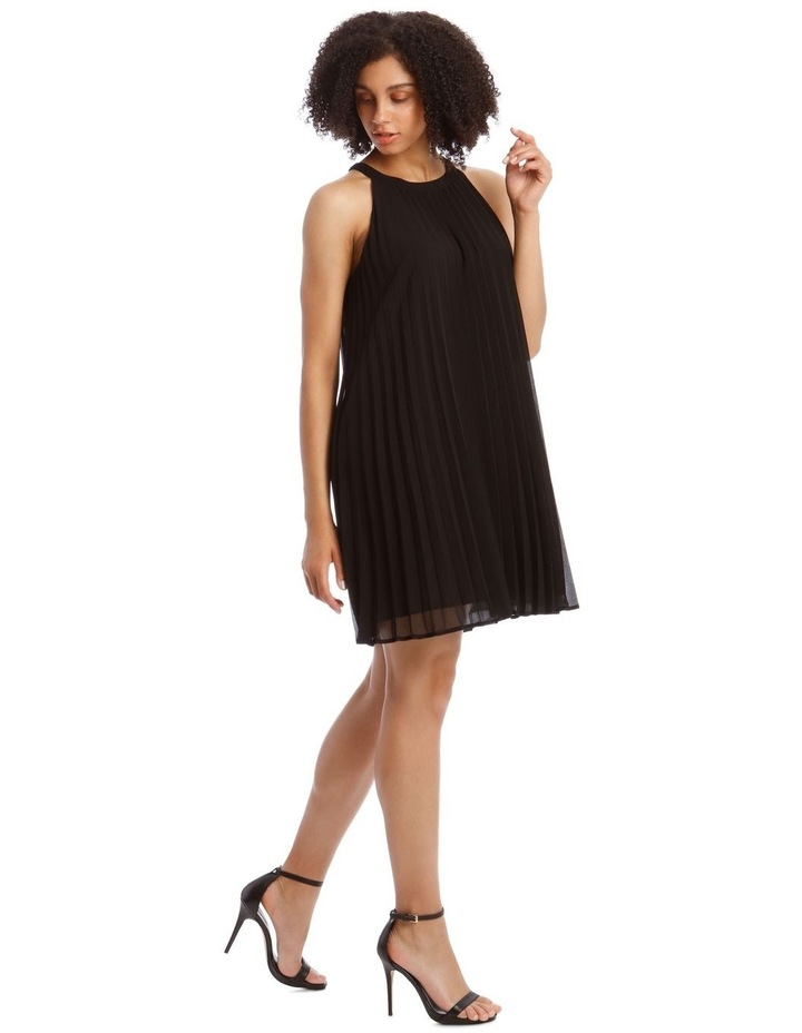 Metallic Halo Neck Pleated Dress image 2