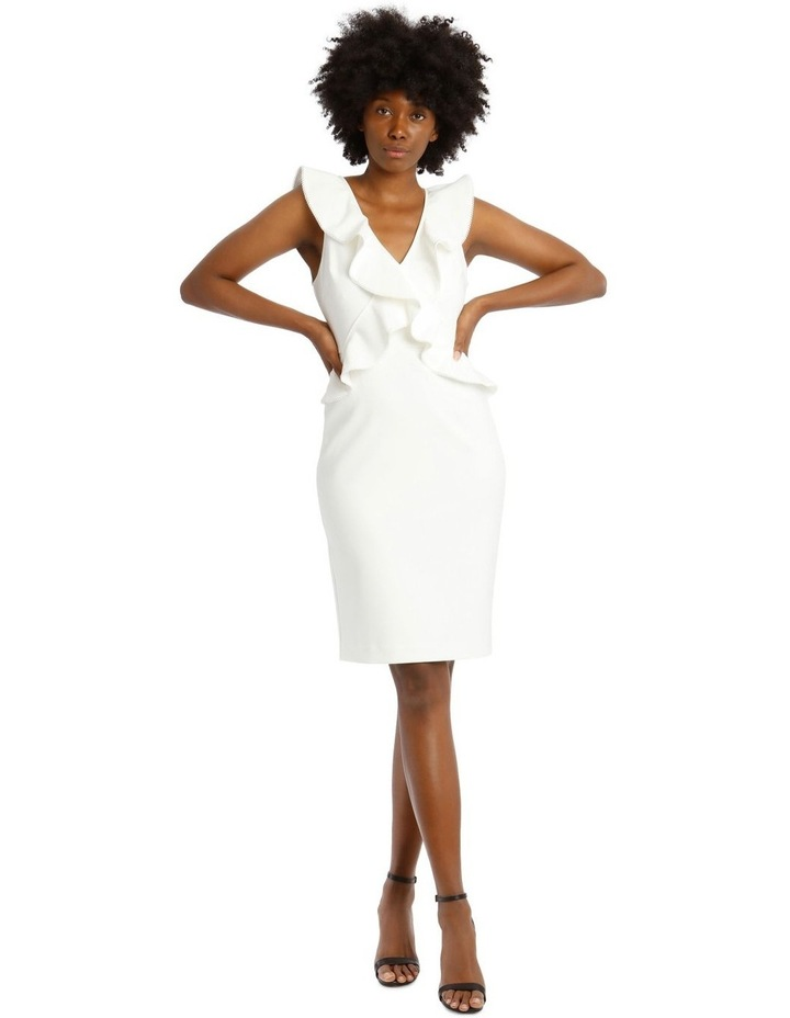 Bonded Crepe Dress With Lace Trim image 1