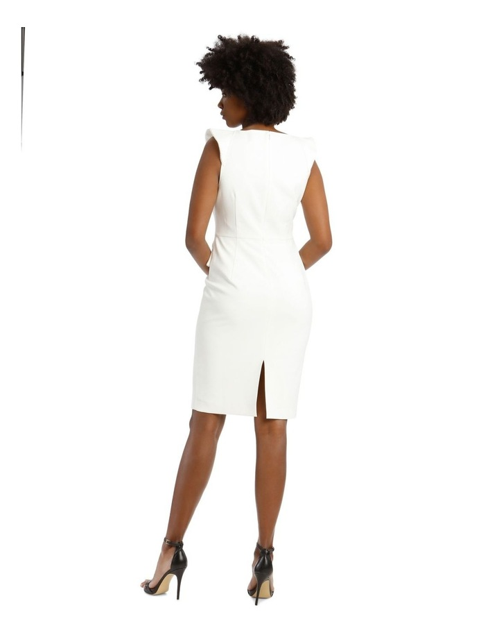 Bonded Crepe Dress With Lace Trim image 3