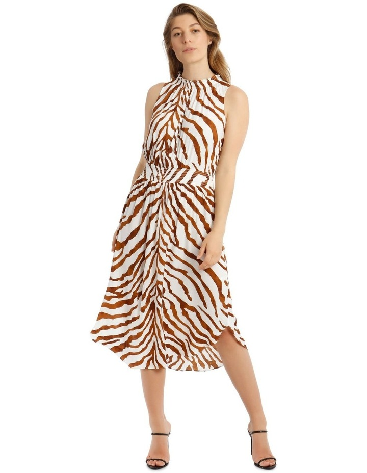 Printed Shirred Waist Dress image 1