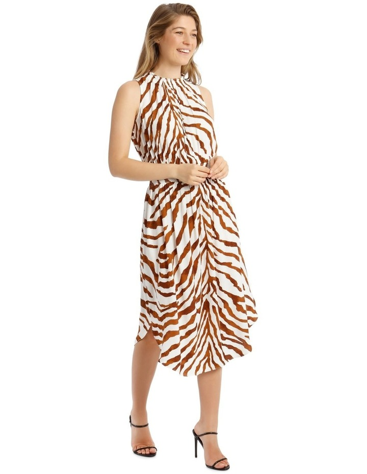 Printed Shirred Waist Dress image 2