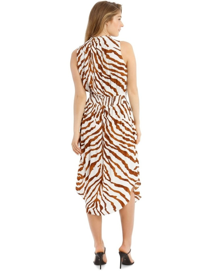 Printed Shirred Waist Dress image 3