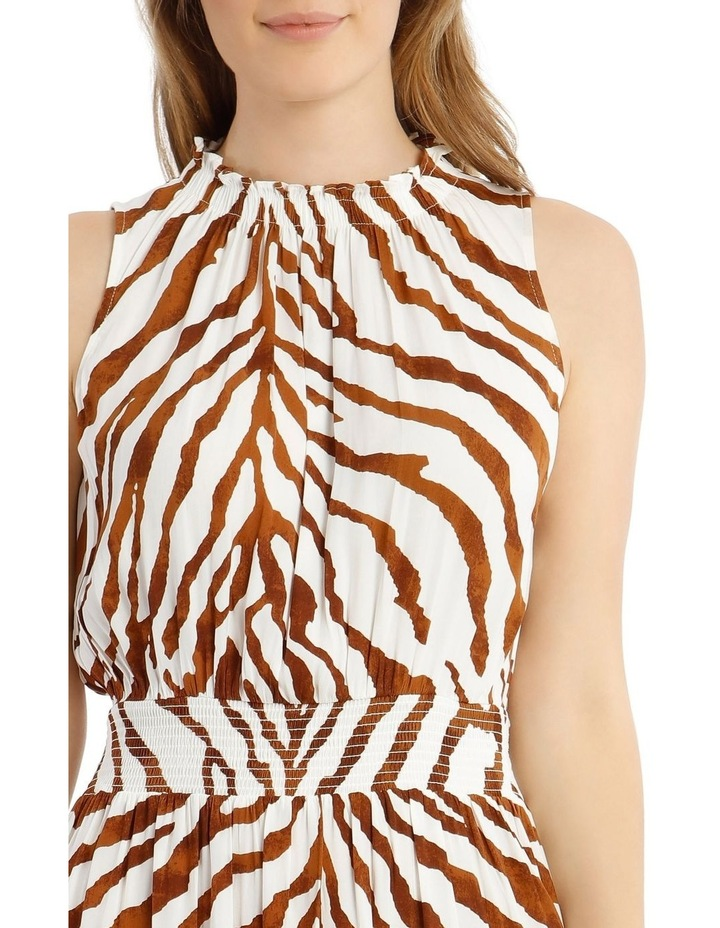 Printed Shirred Waist Dress image 4