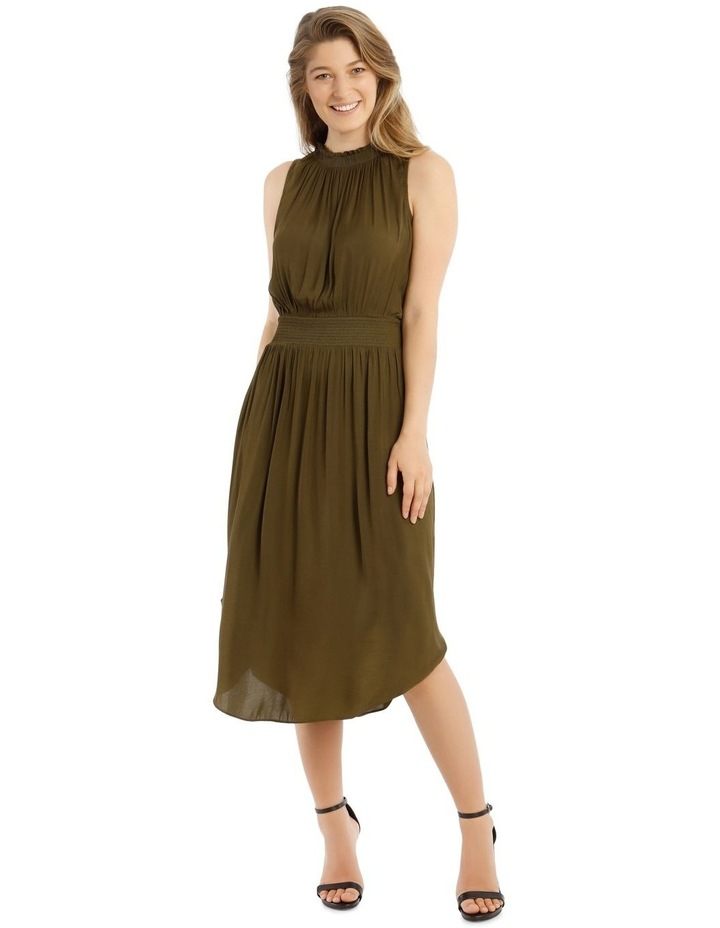 Solid Shirred Waist Dress image 1