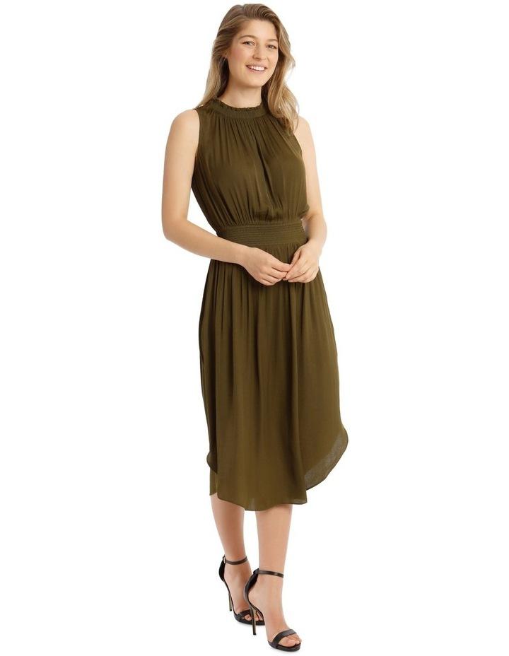 Solid Shirred Waist Dress image 2