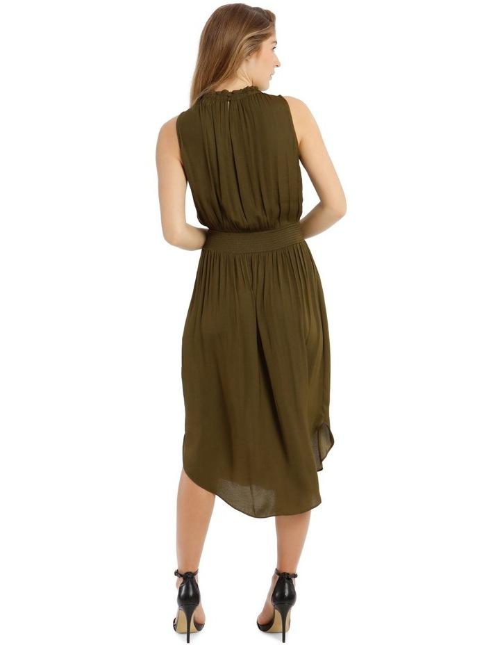Solid Shirred Waist Dress image 3