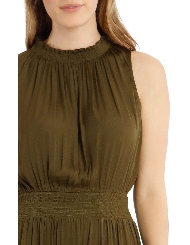 Solid Shirred Waist Dress image 4
