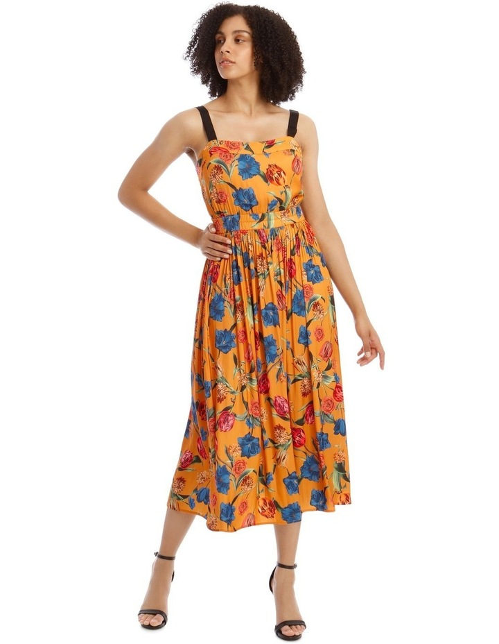 Printed Dress With Waist Detail image 1