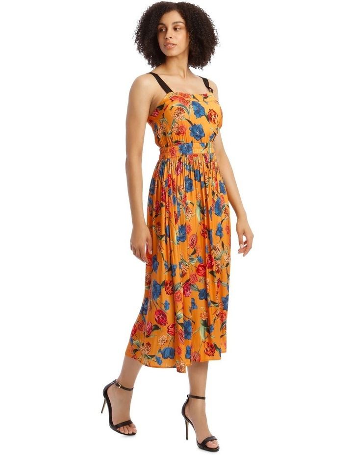Printed Dress With Waist Detail image 2