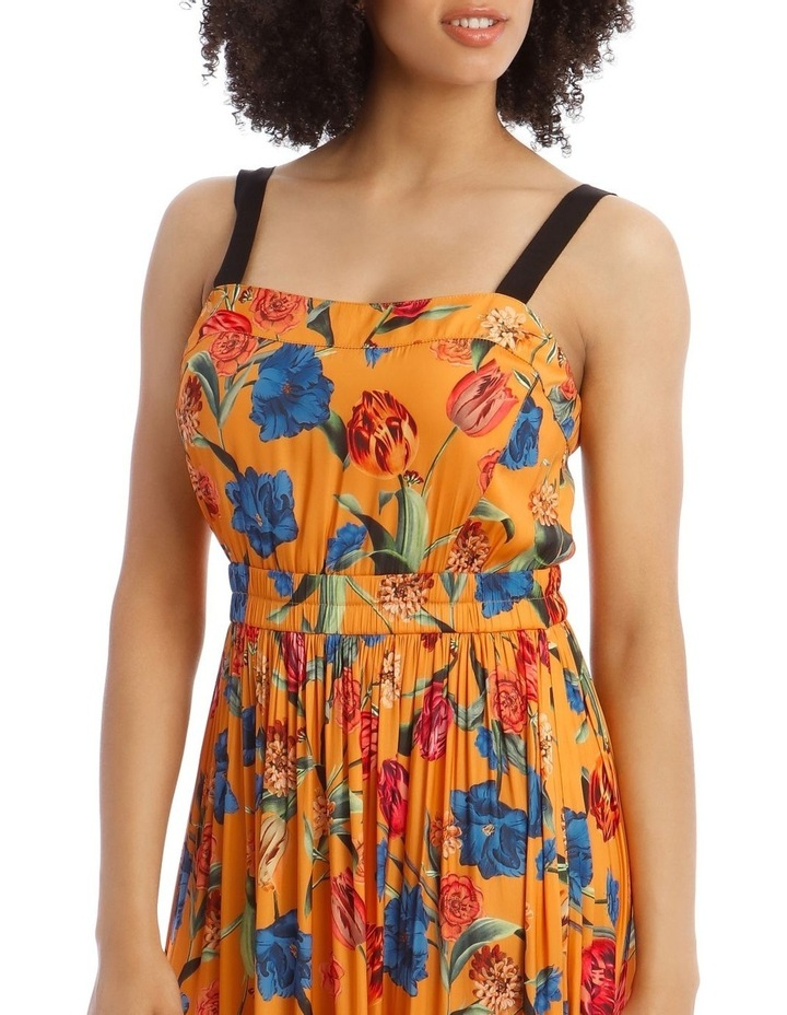 Printed Dress With Waist Detail image 4