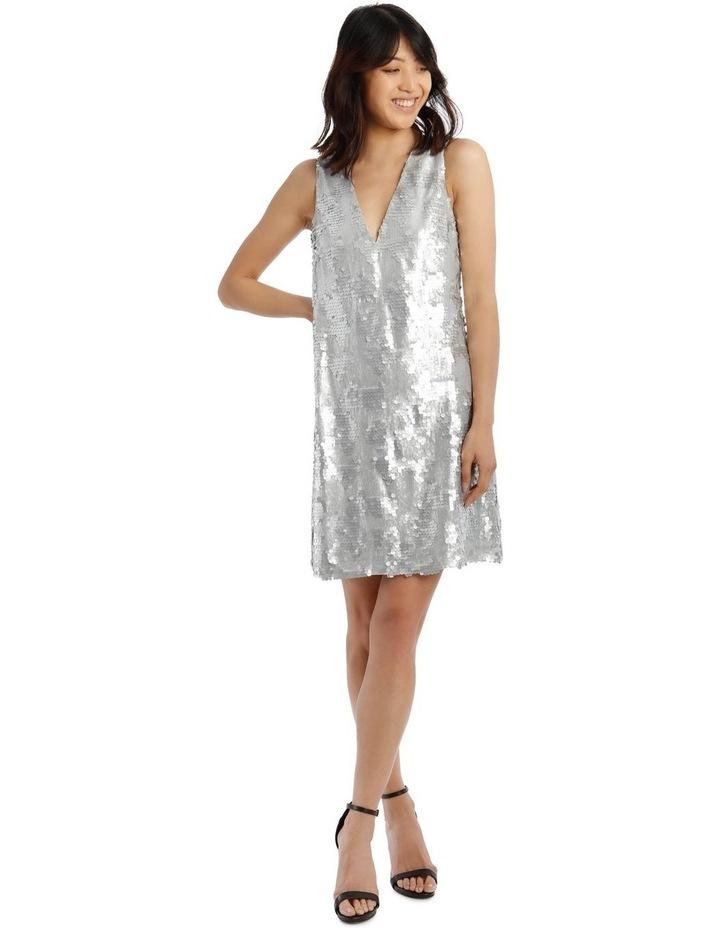 Halo Vee-Neck Sequinned Dress image 1