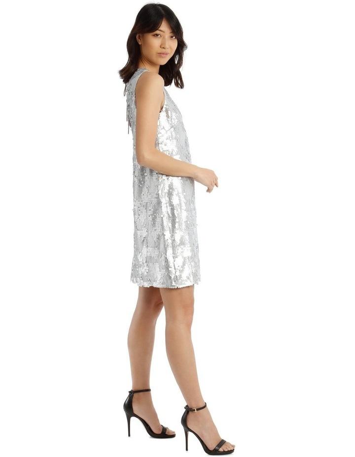 Halo Vee-Neck Sequinned Dress image 2
