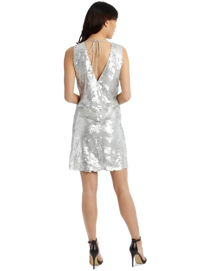 Halo Vee-Neck Sequinned Dress image 3