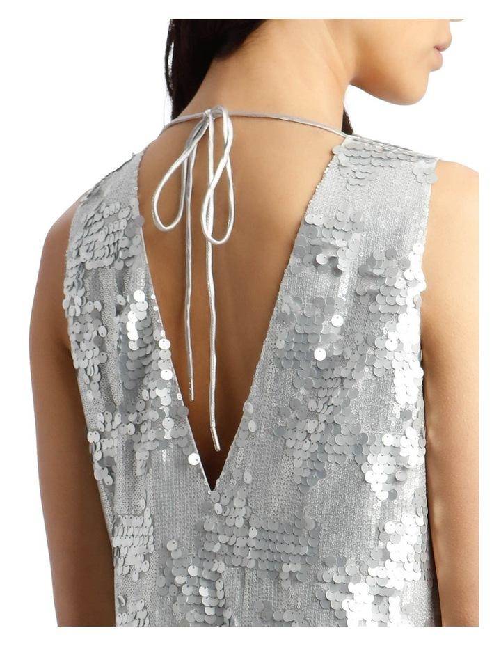 Halo Vee-Neck Sequinned Dress image 4