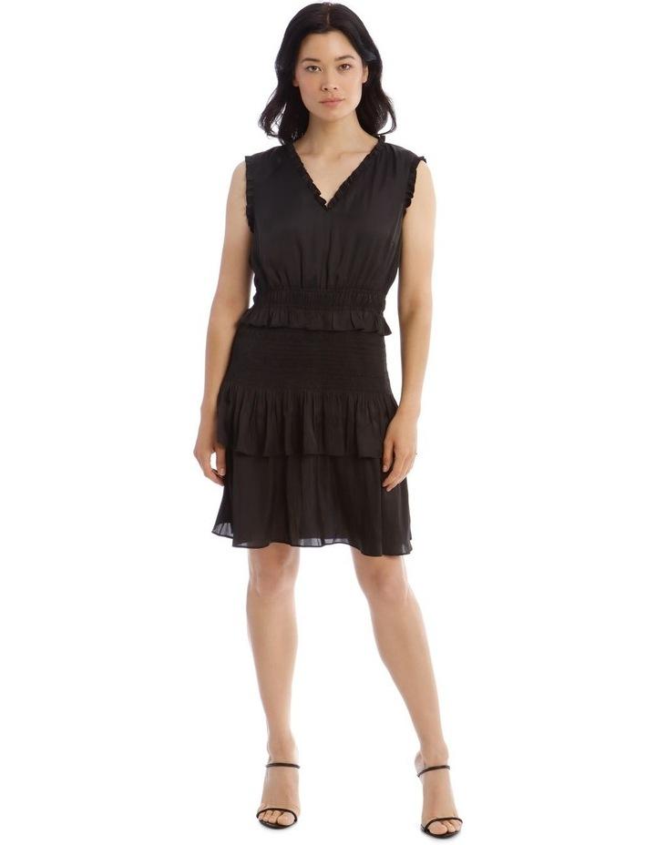 Bruised Poly Tiered Sleeveless Dress image 1