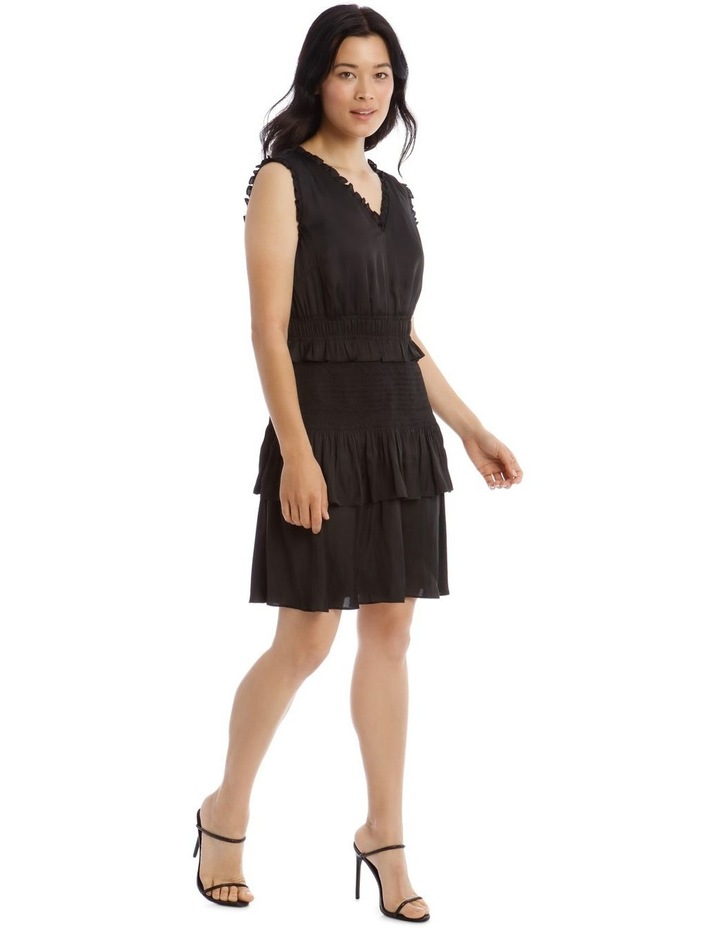 Bruised Poly Tiered Sleeveless Dress image 2