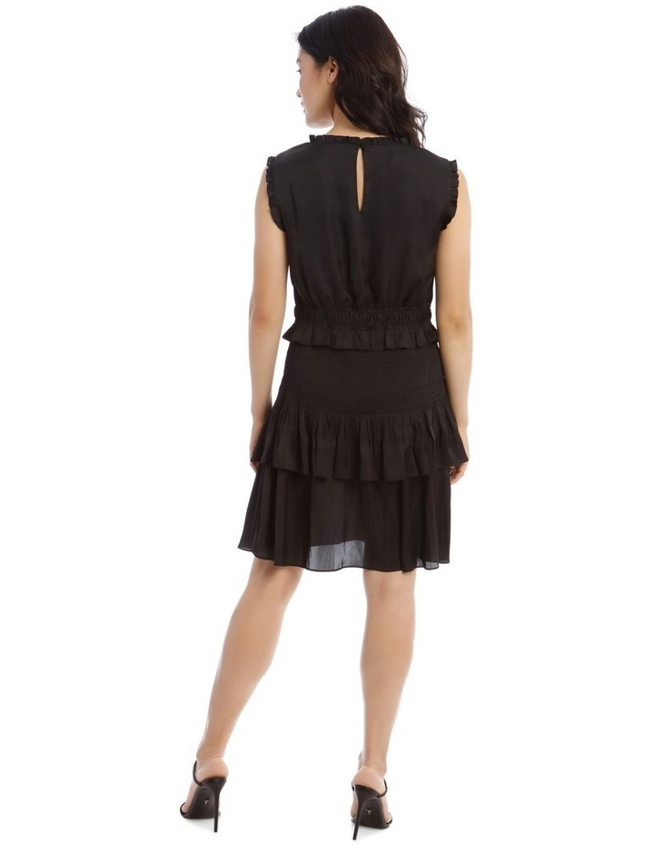 Bruised Poly Tiered Sleeveless Dress image 3
