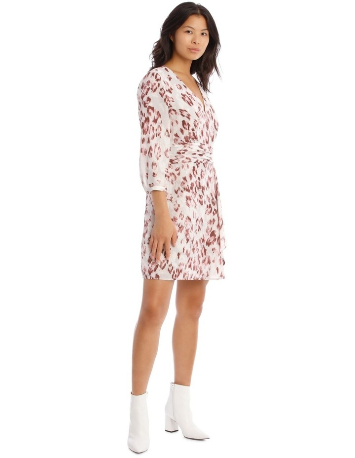 Draped Waist Multi Print Lined Digital Dress image 2