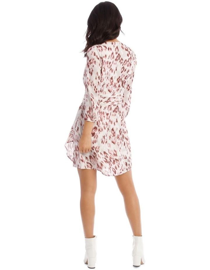 Draped Waist Multi Print Lined Digital Dress image 3
