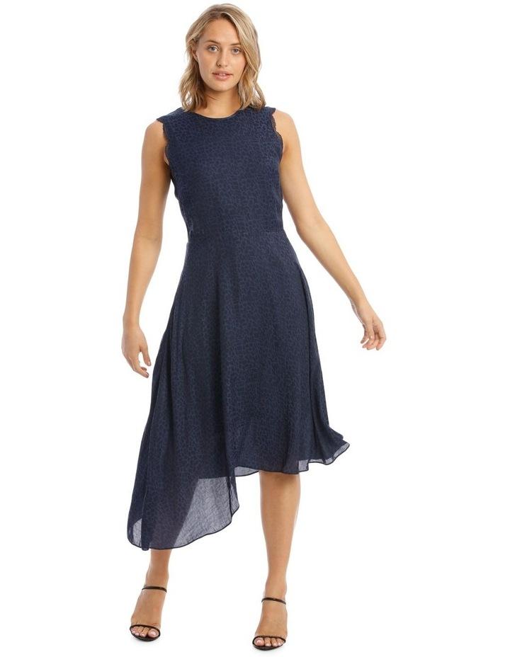 Sleeveless Asymmetrical Jacquard Dress image 1