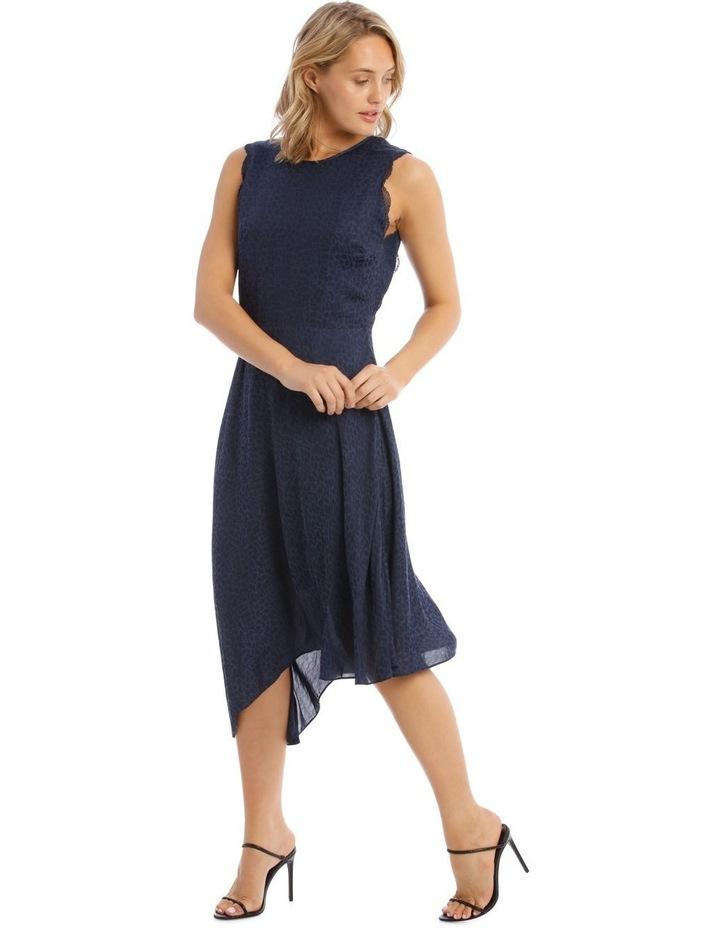 Sleeveless Asymmetrical Jacquard Dress image 2