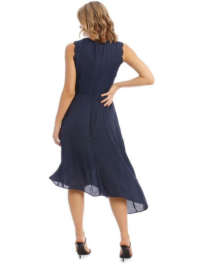 Sleeveless Asymmetrical Jacquard Dress image 3