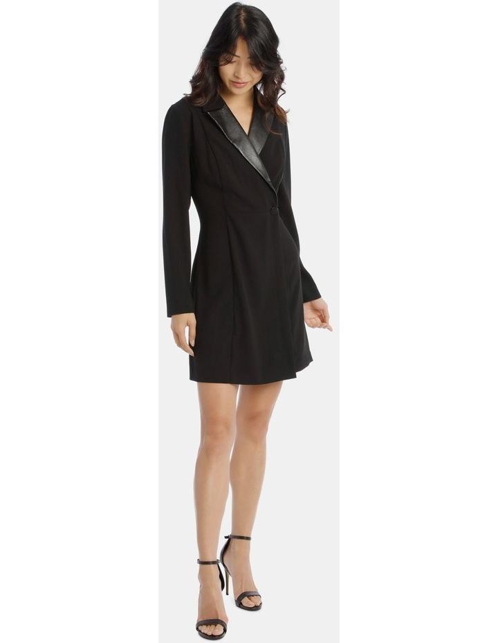 Tuxedo Dress with Pleather Trim image 1
