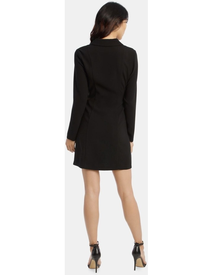 Tuxedo Dress with Pleather Trim image 3