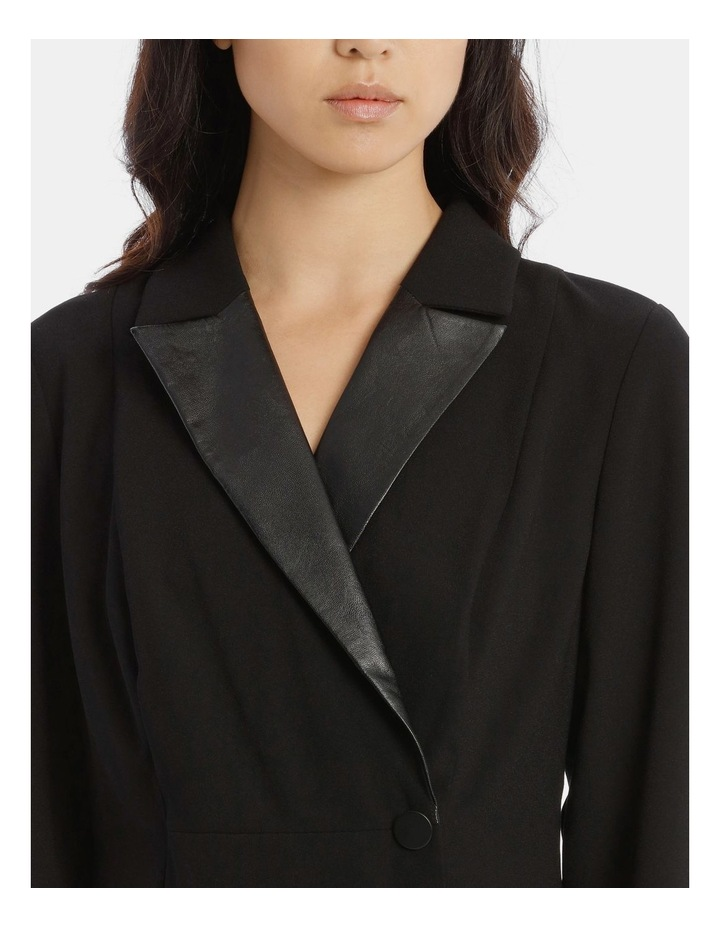 Tuxedo Dress with Pleather Trim image 4