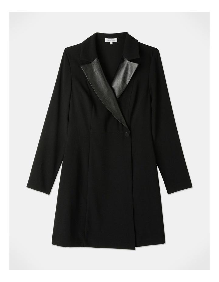 Tuxedo Dress with Pleather Trim image 5